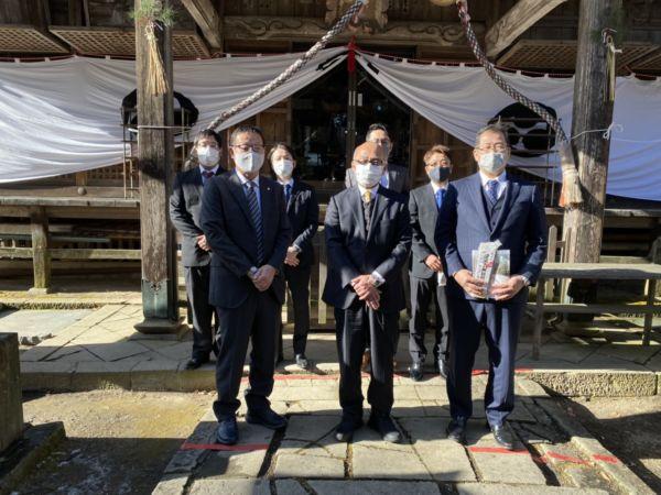 安達太良神社にて
